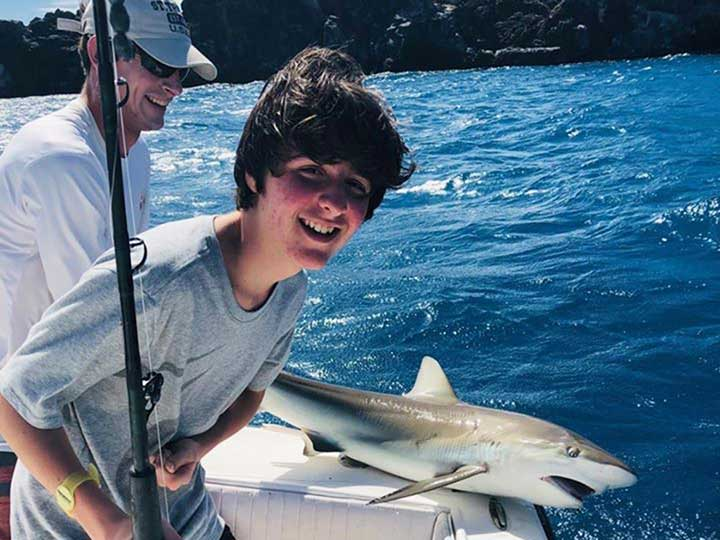 reef shark caught and released with the best shark bait