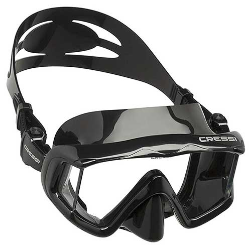 cressi panoramic wide view mask and dry snorkel