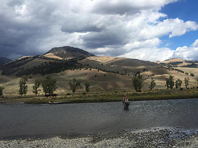 fly fishing in the mountains out west
