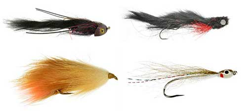alaska salmon streamer fly collection for river fishing