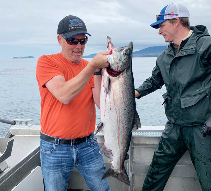 monster king salmon caught fishing in alaska