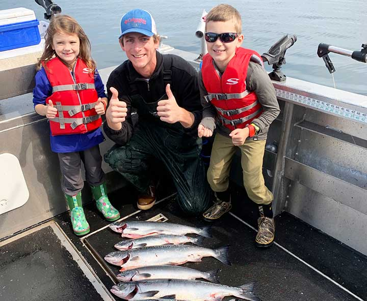 salmon fishing with kids on a disney cruise