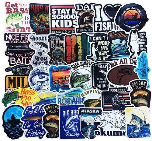 50 fishing stickers