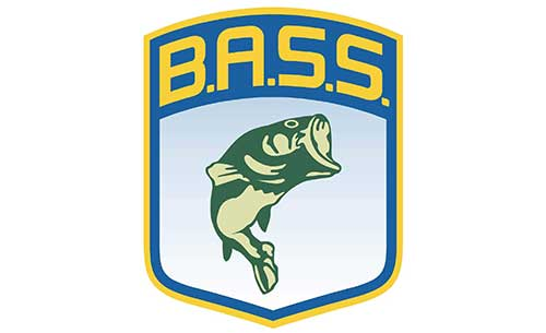bass anglers sportsman society fishing decal in color as a vinyl fishing sticker