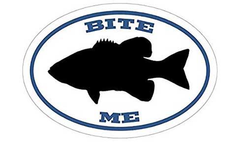 bite me bass fishing sticker