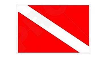 dive flag bumper sticker for scuba divers