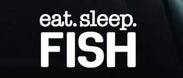 eat sleep fish decal sticker for car or truck