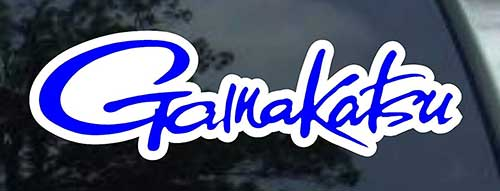 gamakatsu fishing decal sticker for car truck or boat