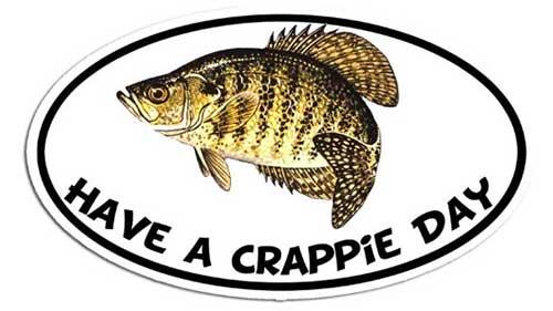 have a crappie day bumper sticker