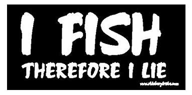 i fish therefore i lie bumper sticker decal