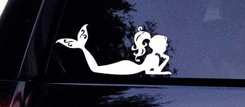 mermaid fish decal for car window