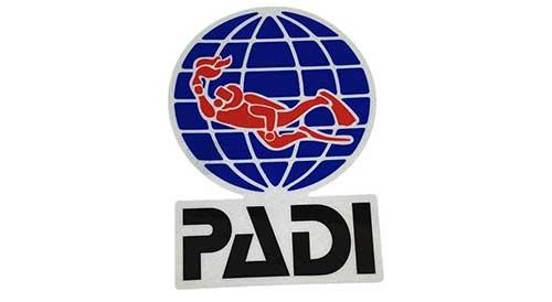 padi bumper sticker for car truck or boat