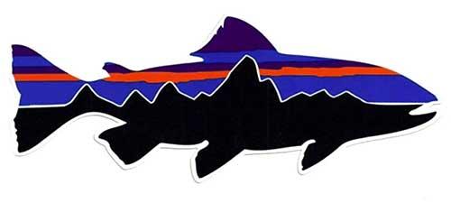 patagonia original fishing decal