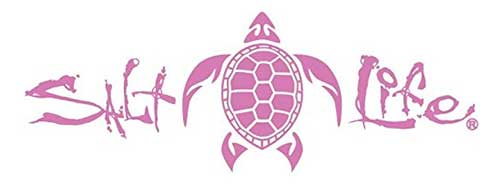 salt life fishing decal pink for car truck or boat