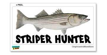 striper hunter fishing sticker