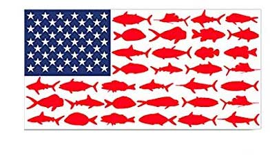 usa american flag fishing decal for car truck or boat