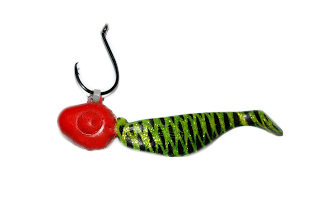 red and green tarpon jig