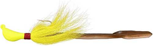 bomber chartreuse eel fluke jig
