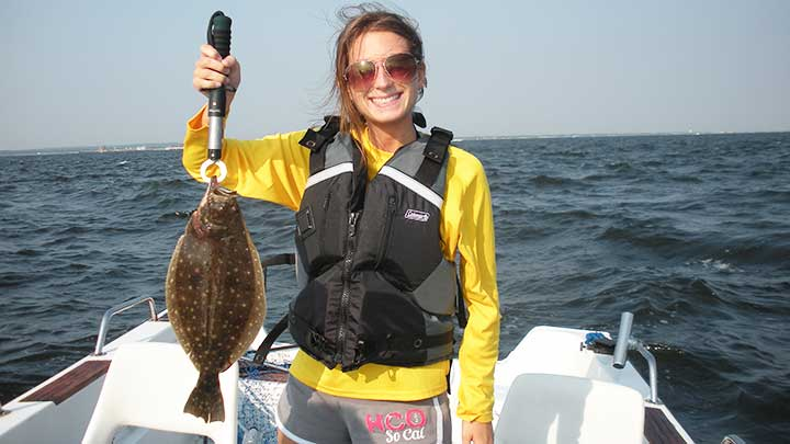 fluke caught with white gulp