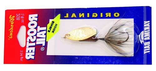 single hook rooster tail gold blade for grayling fishing in alaska
