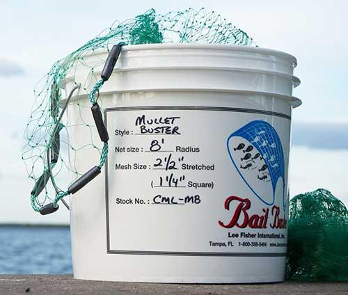bait buster mullet cast net large mesh size
