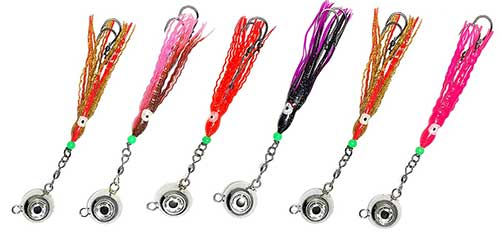 ball jigs with hoochie stinger for halibut fishing