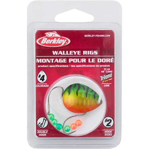 berkley walleye mono rig worm harness
