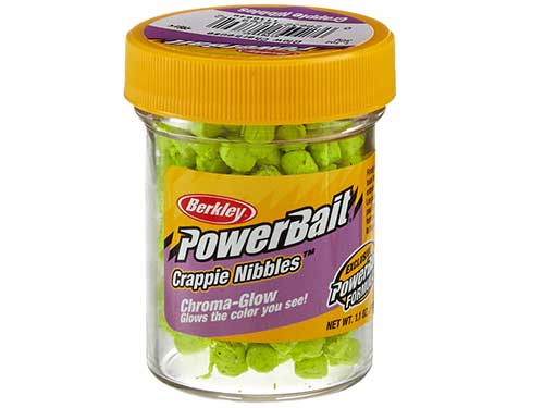 crappie nibbles glow powerbait scented dough