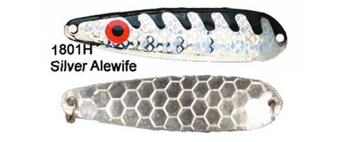 dream weaver silver and black walleye spoon