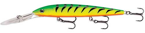 firetiger deep diving husky-jerk lure for walleye trolling