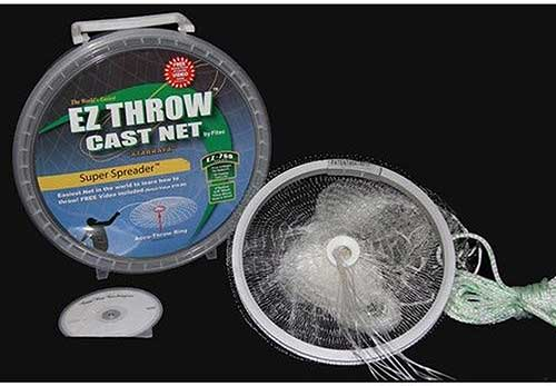 fitec ez throw cast net with metal ring for easy throw