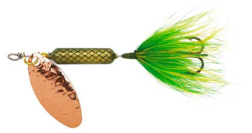 original rooster tail spinnier for crappie lure