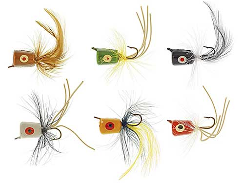 south bend assorted fly poppers for crappie fishing