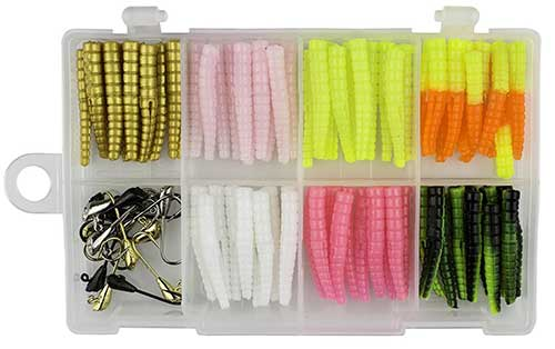 trout magnet jigs gold pink white and black