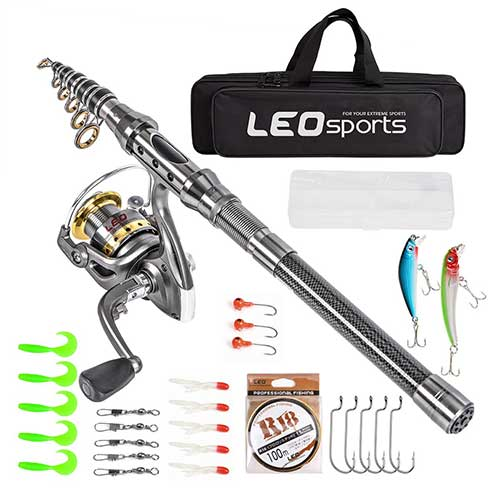 Leo-Sports-telescopic-fishing-rod-and-reel-combo