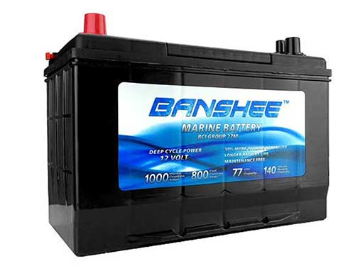 banshee deep cycle marine trolling motor battery