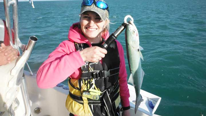 catching bluefish with bait