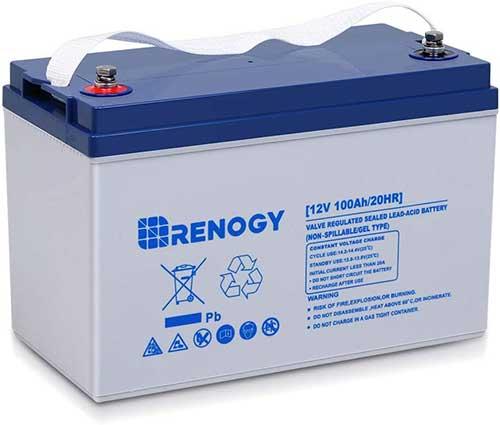 renogy deep cycle hybrid gel 12 volt 100 ah marine battery