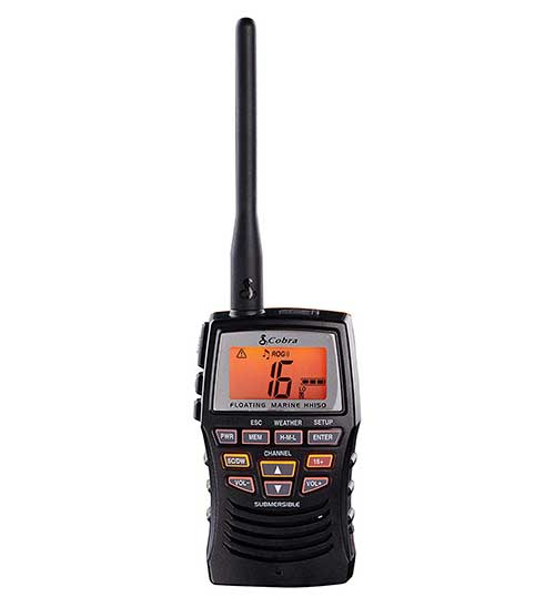 cobra floating submersible vhf marine radio