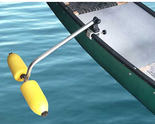 outrigger canoe stabilizer system