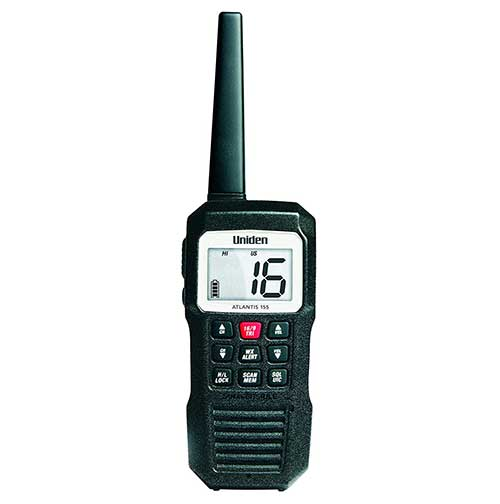 uniden atlantis 155 handheld floating submersible marine radio