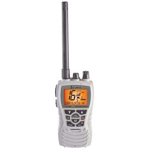 cobra hh350w handheld floating submersible handheld vhf radio