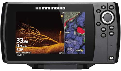 humminbird helix 7chirp mega down imaging fish fider with transducer