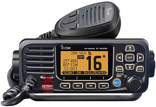 icom m330g fixed mount vhf marine radio