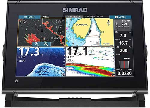 simrad go9 xse fish finder with sonar