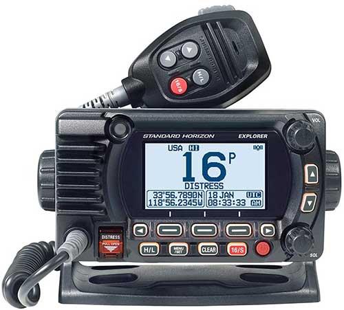 standard horizion 1800G fixed mount gps marine radio