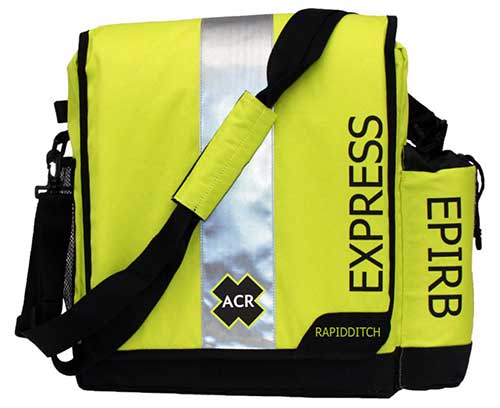 acr rapid ditch bag express for epirb and plb boat safety