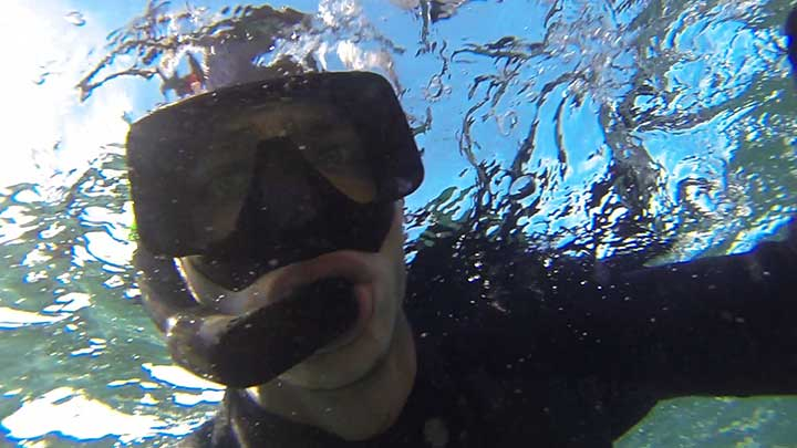 cody snorkeling in the florida keys