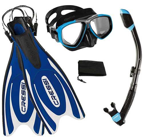 cressi-frog-mask-fins-snorkel-gear-set