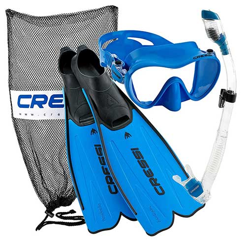 cressi premium rondinella mask fin and snorkel gear package
